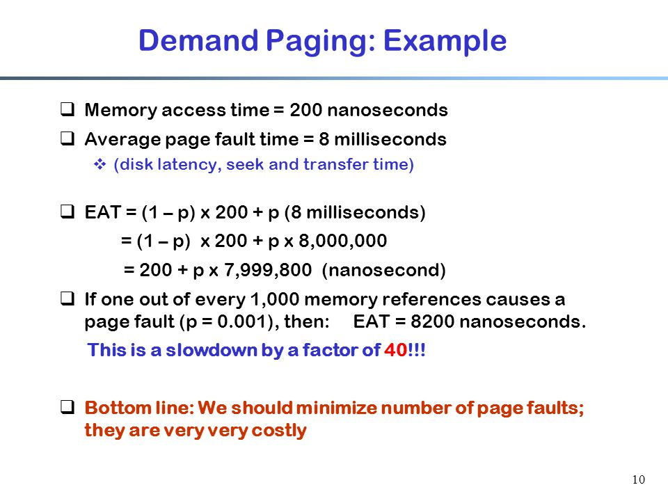 Demand Paging: Example