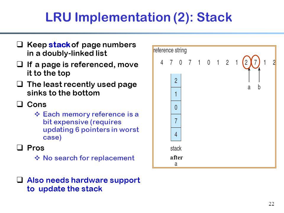 LRU Implementation (2): Stack