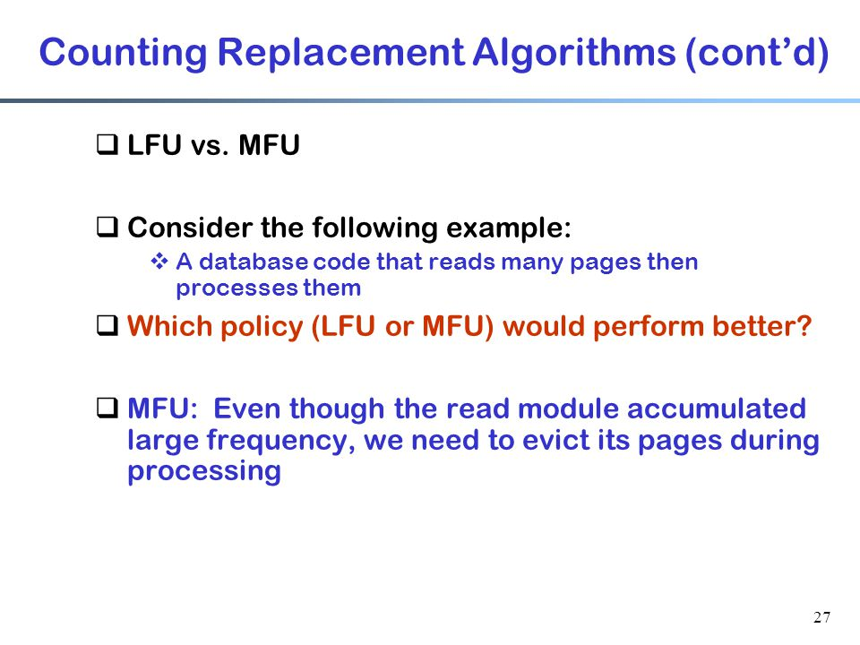 Counting Replacement Algorithms (cont'd)