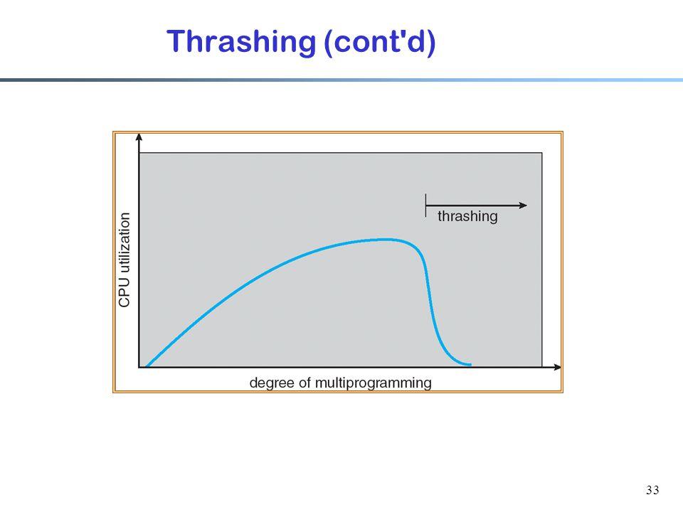 Thrashing (cont d)