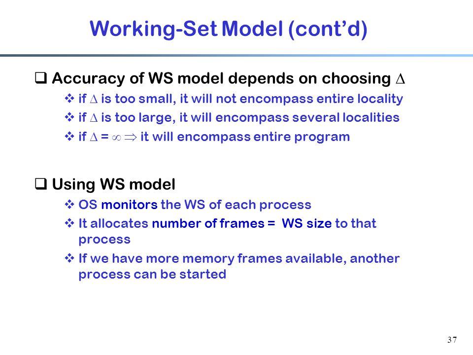 Working-Set Model (cont'd)