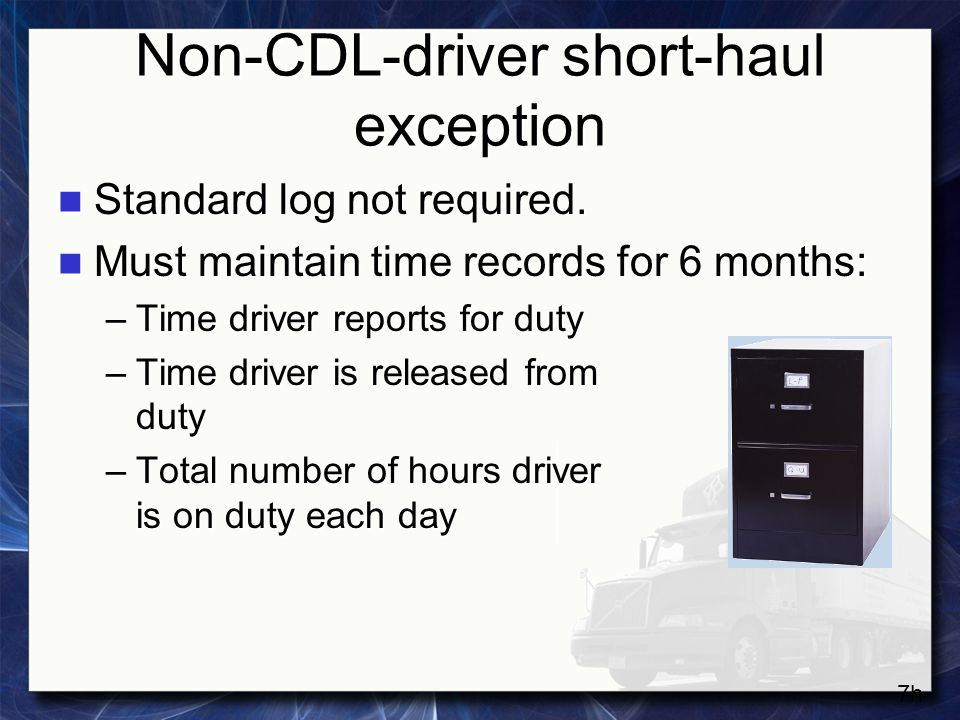 Non-CDL-driver short-haul exception