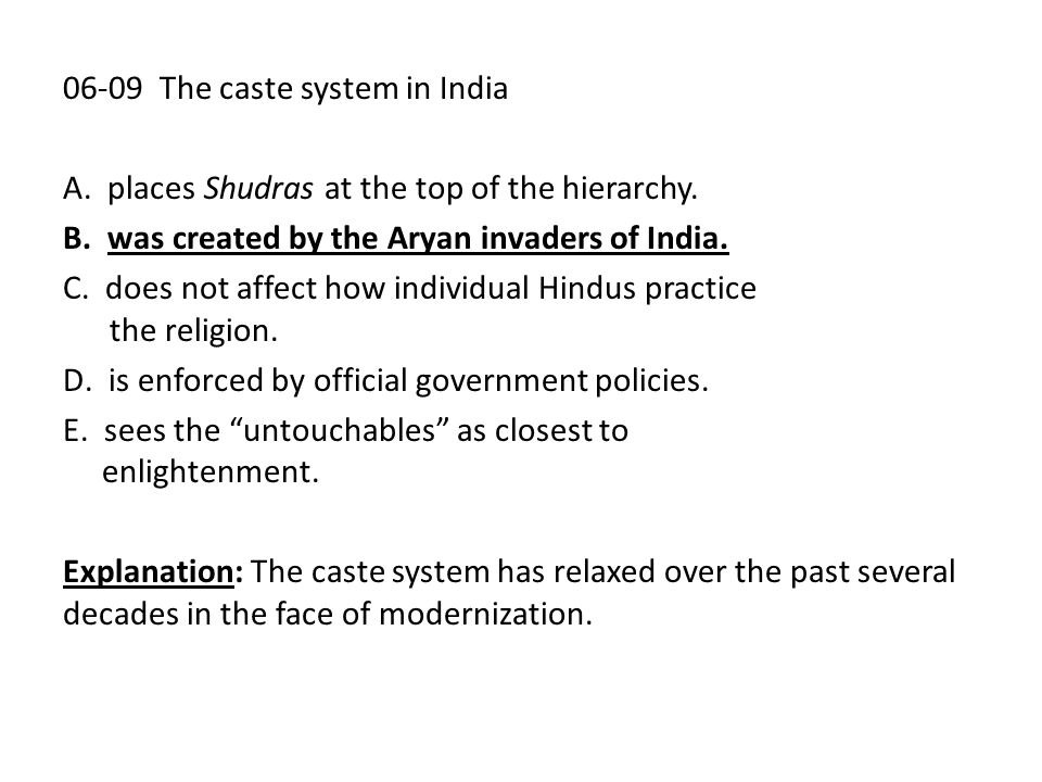 06-09 The caste system in India