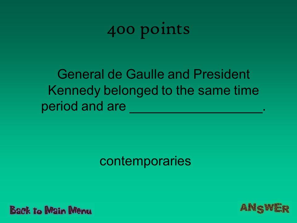 400 points contemporaries