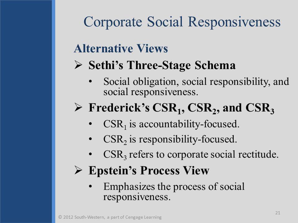 Corporate Social Responsiveness
