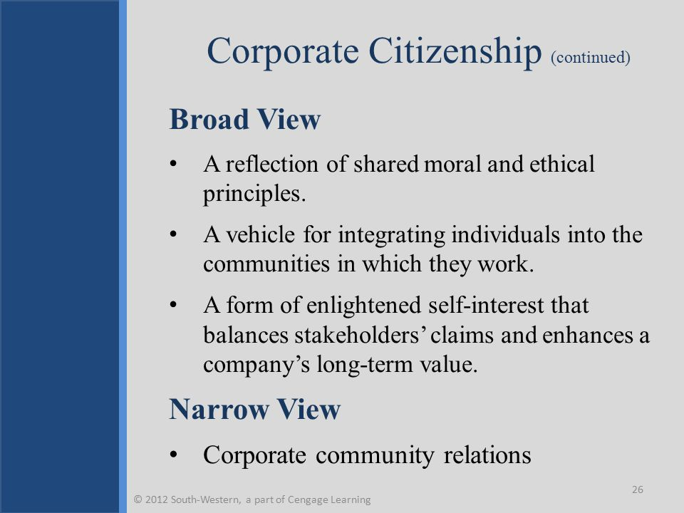 Corporate Citizenship (continued)