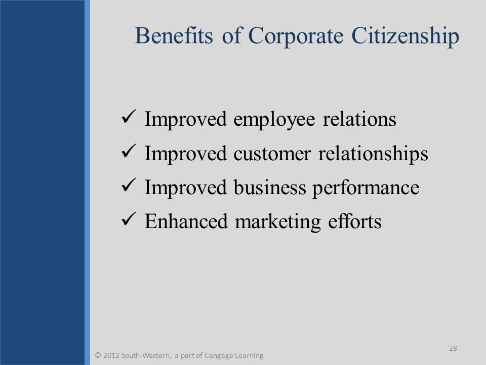 Benefits of Corporate Citizenship
