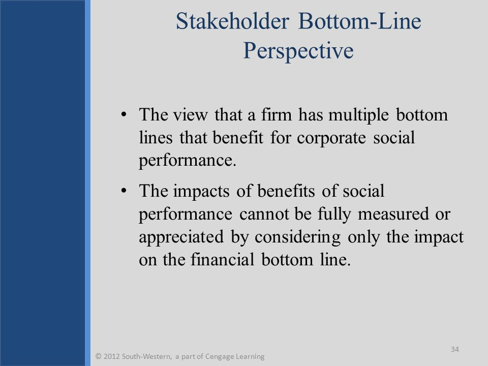 Stakeholder Bottom-Line Perspective