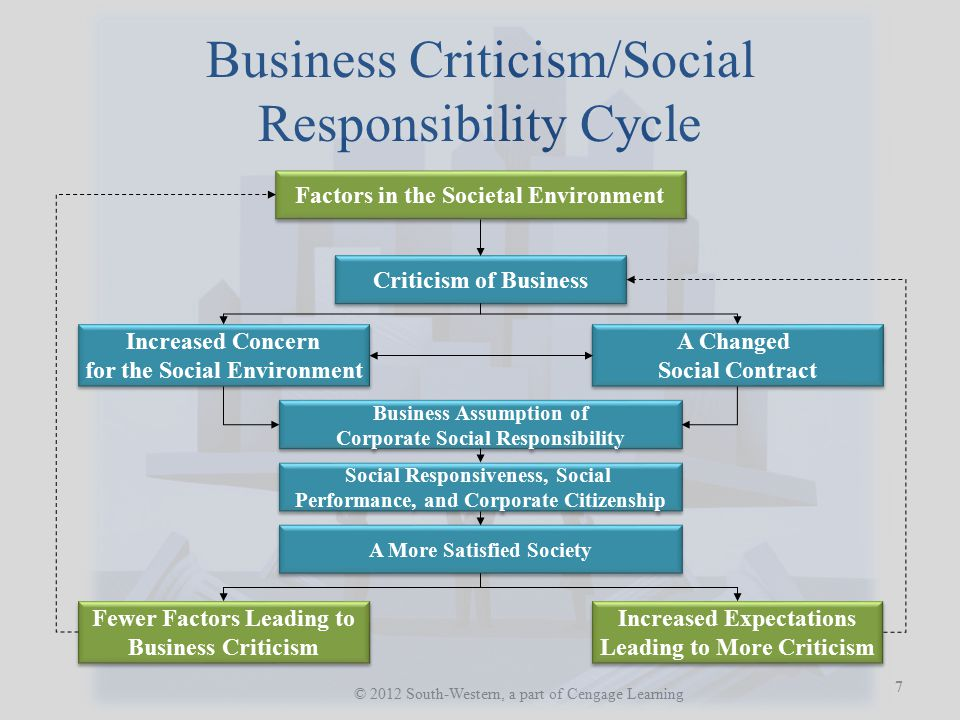 Business Criticism/Social Responsibility Cycle