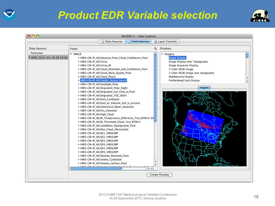 Product EDR Variable selection