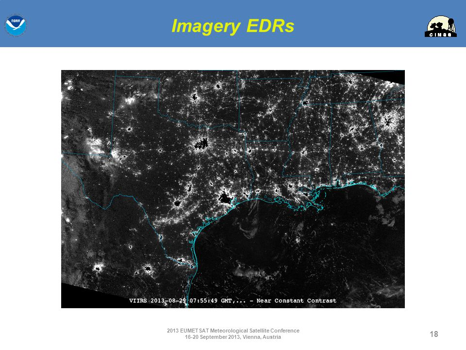 Imagery EDRs 2013 EUMETSAT Meteorological Satellite Conference