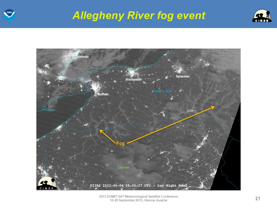 Allegheny River fog event