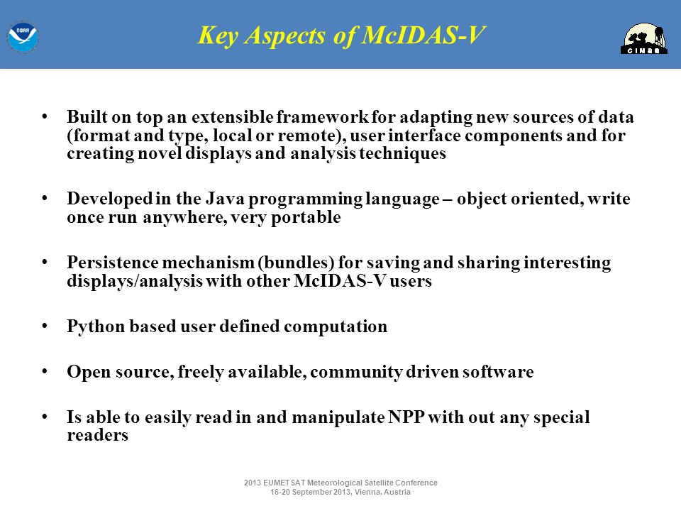 Key Aspects of McIDAS-V