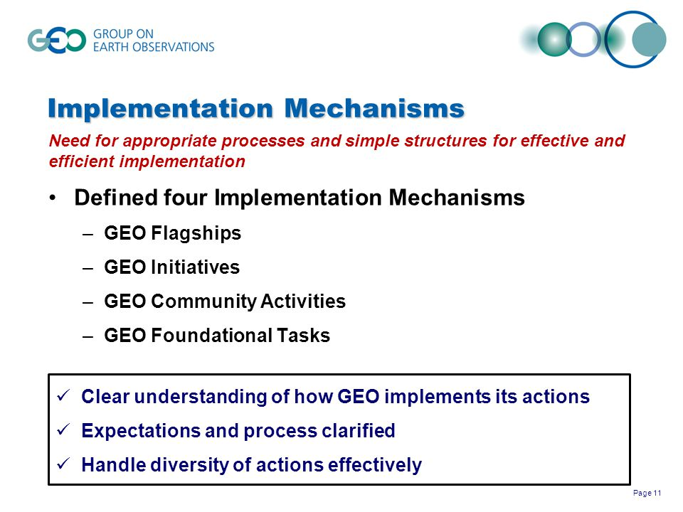 Implementation Mechanisms