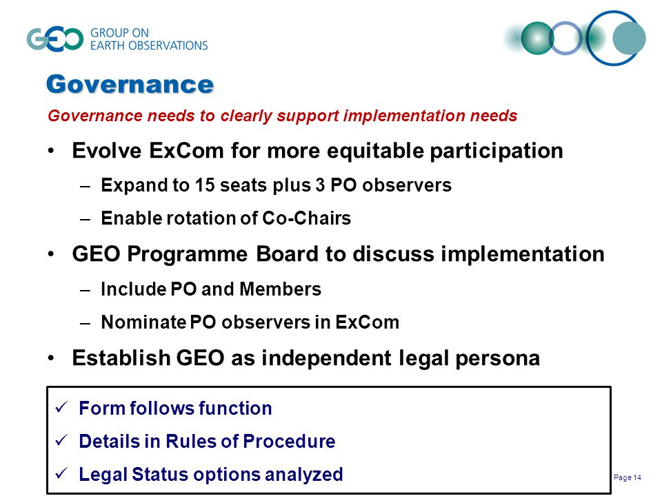 Governance Evolve ExCom for more equitable participation