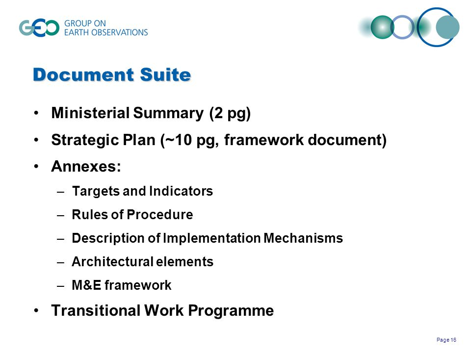 Document Suite Ministerial Summary (2 pg)