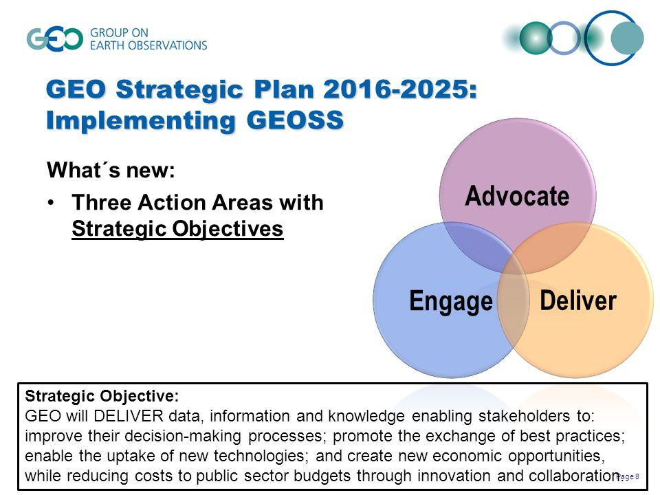 GEO Strategic Plan 2016-2025: Implementing GEOSS