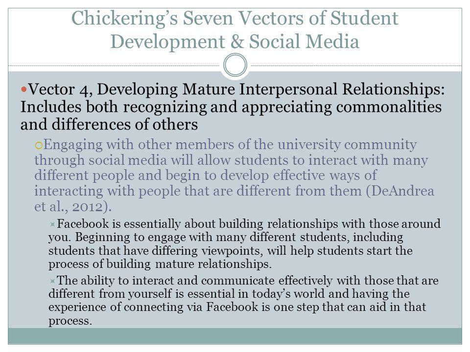Chickering's Seven Vectors of Student Development & Social Media