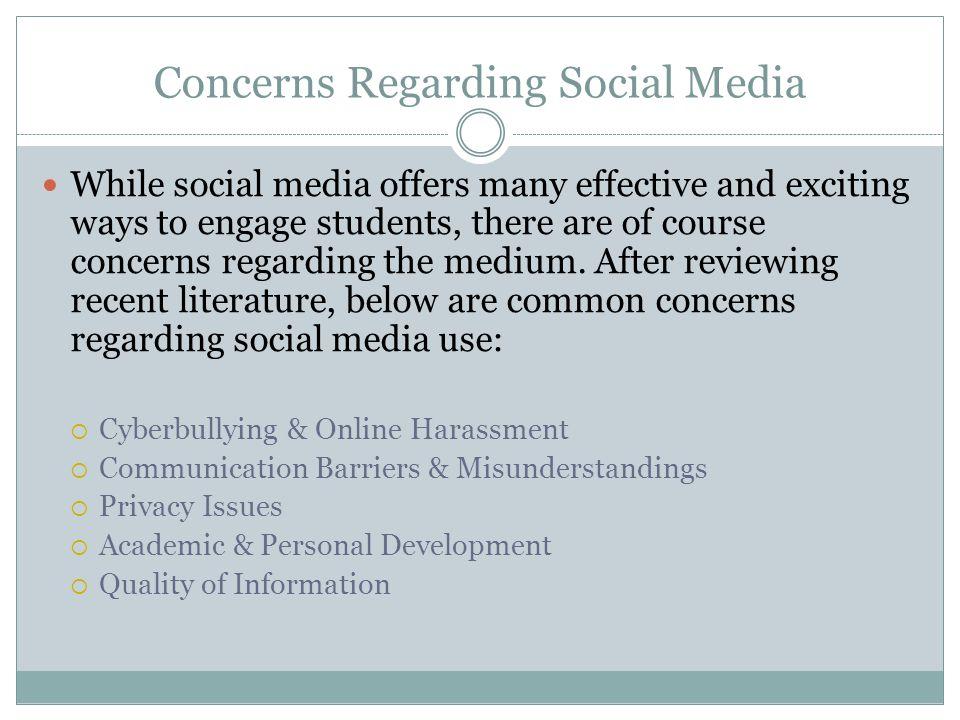 Concerns Regarding Social Media