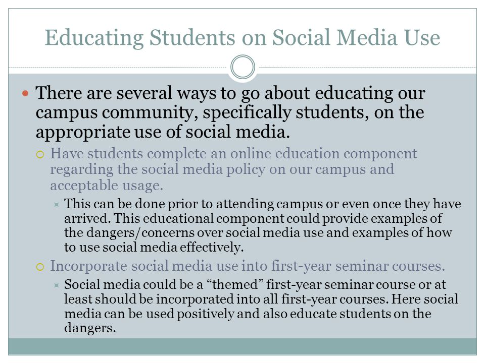 Educating Students on Social Media Use