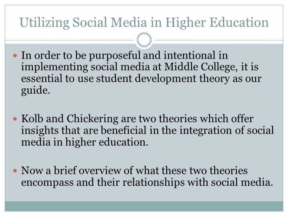 Utilizing Social Media in Higher Education