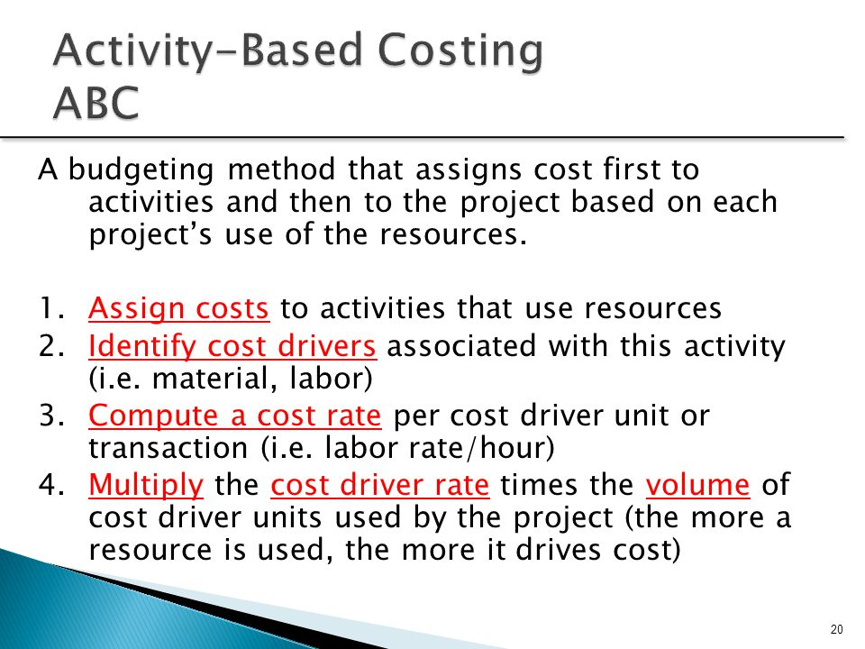 Activity-Based Costing ABC