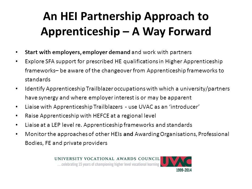 An HEI Partnership Approach to Apprenticeship – A Way Forward
