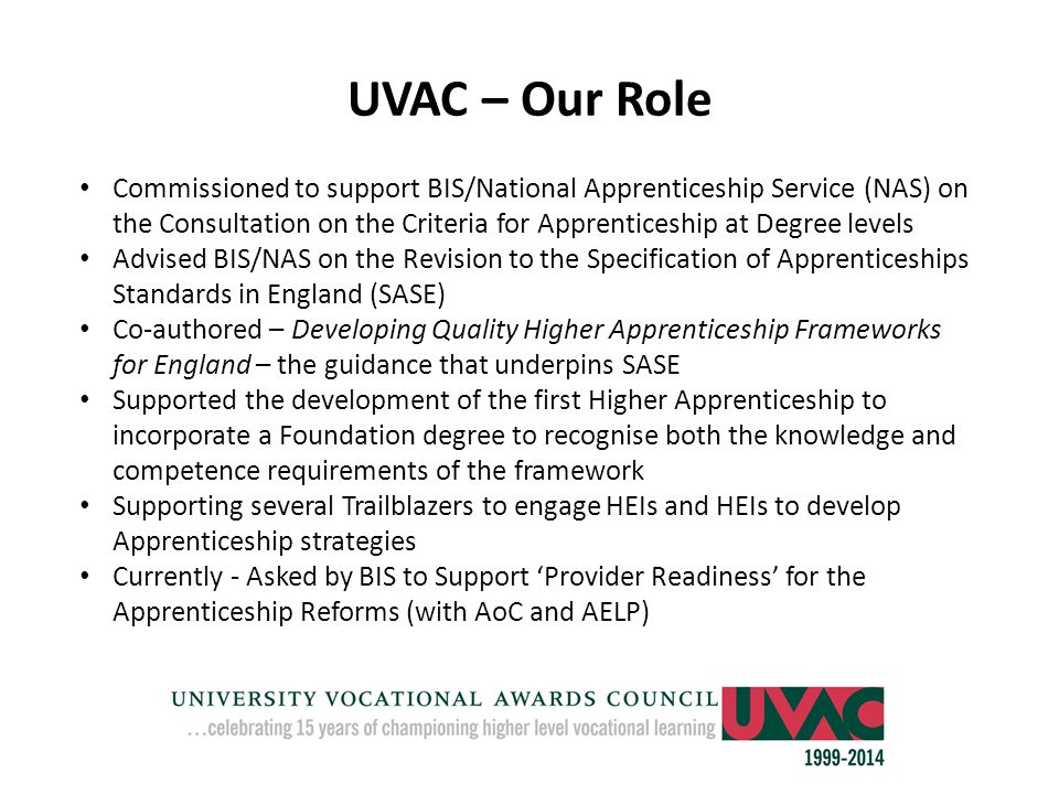 UVAC – Our Role