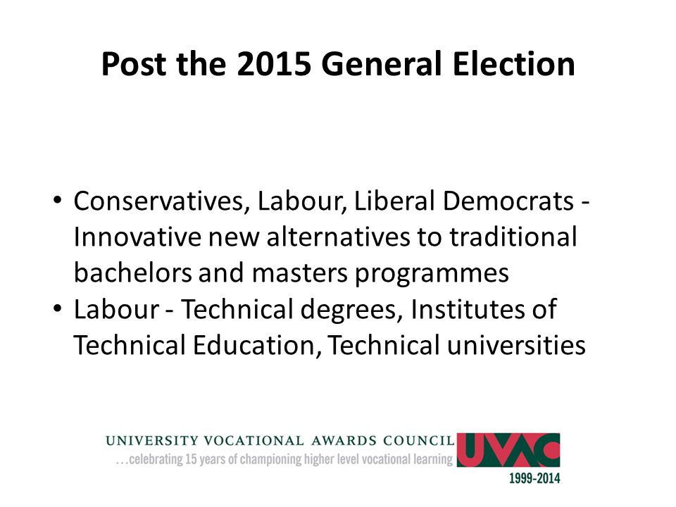 Post the 2015 General Election