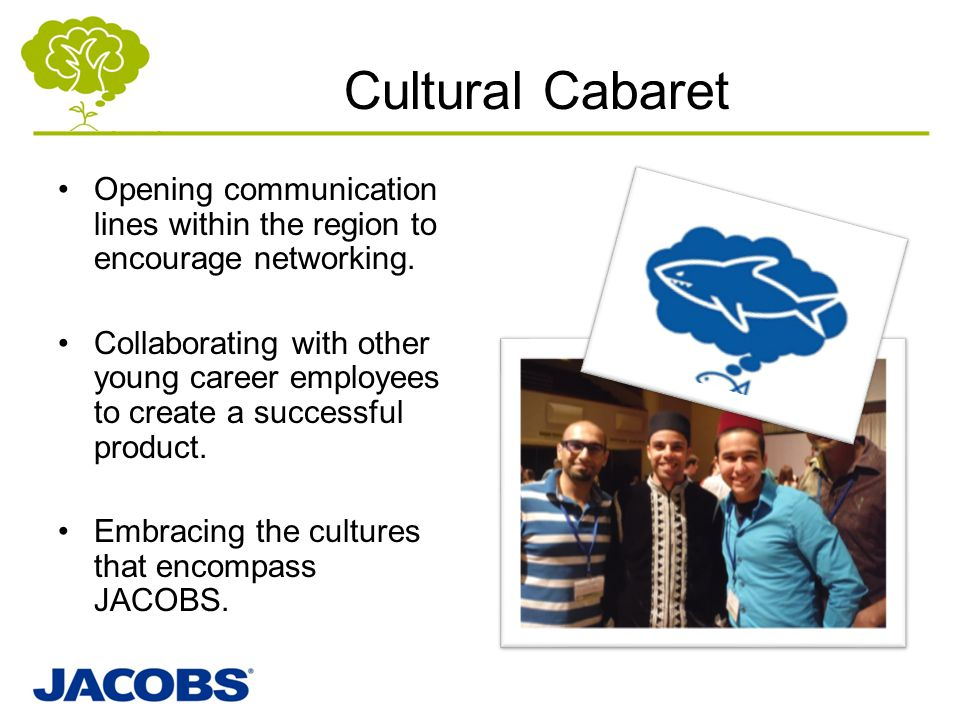 Cultural Cabaret Opening communication lines within the region to encourage networking.