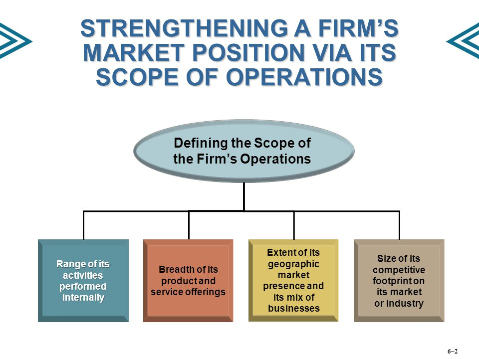 STRENGTHENING A FIRM'S MARKET POSITION VIA ITS SCOPE OF OPERATIONS