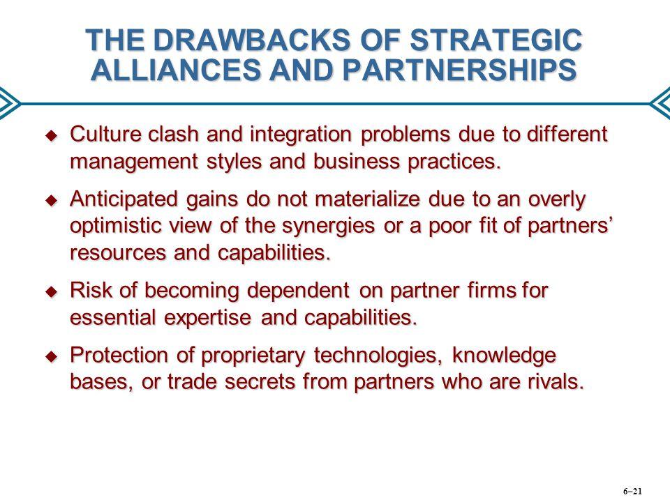 THE DRAWBACKS OF STRATEGIC ALLIANCES AND PARTNERSHIPS