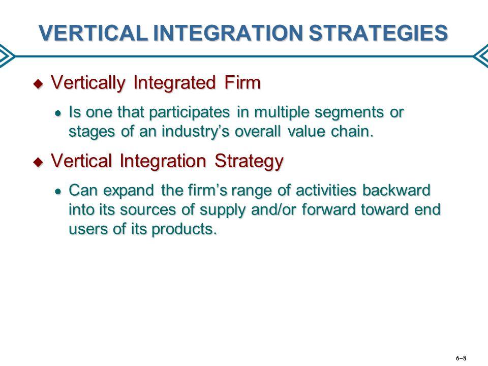 VERTICAL INTEGRATION STRATEGIES