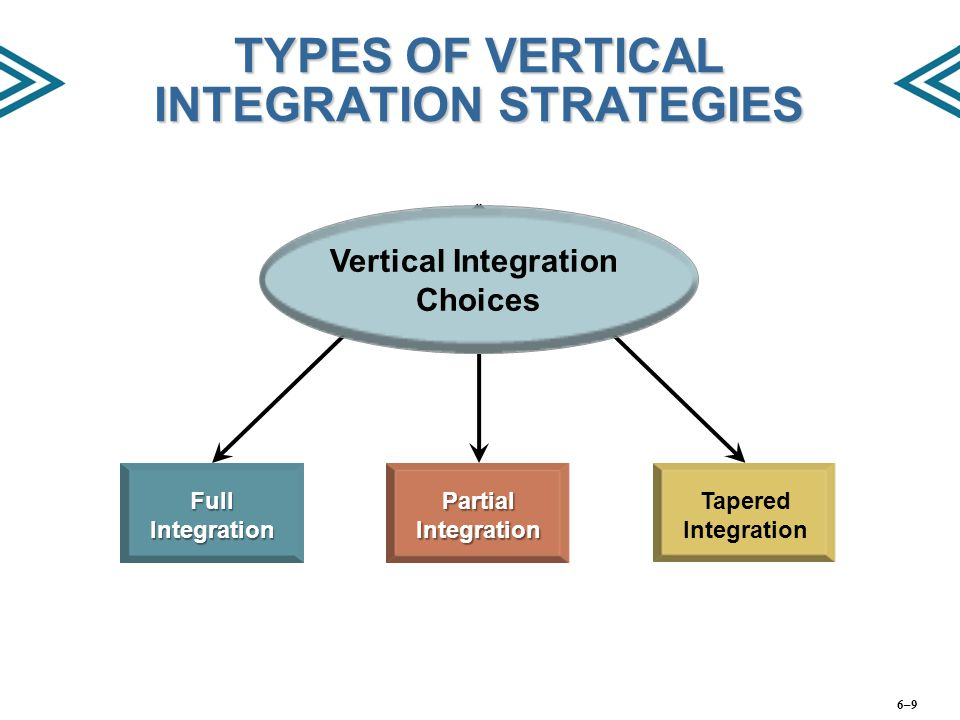 TYPES OF VERTICAL INTEGRATION STRATEGIES
