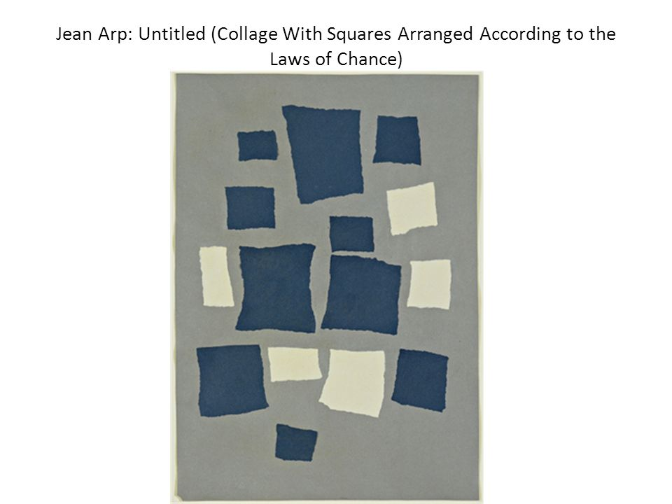 Jean Arp: Untitled (Collage With Squares Arranged According to the Laws of Chance)