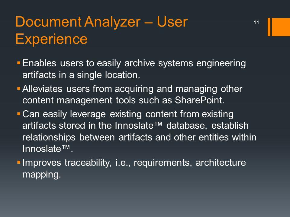 Document Analyzer – User Experience