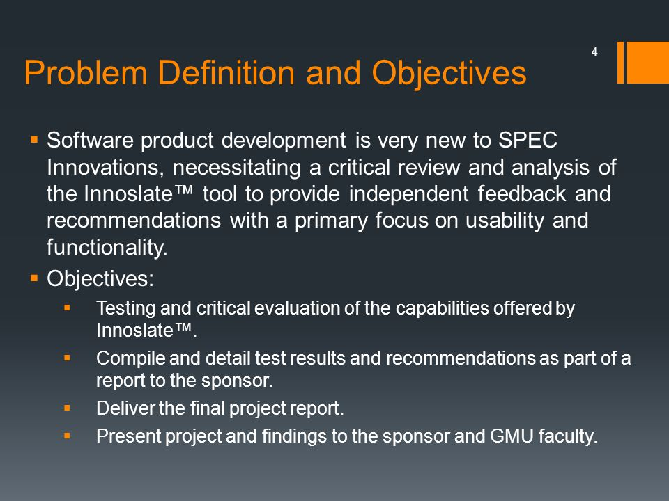 Problem Definition and Objectives