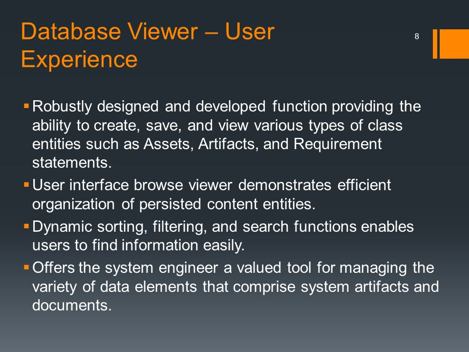 Database Viewer – User Experience
