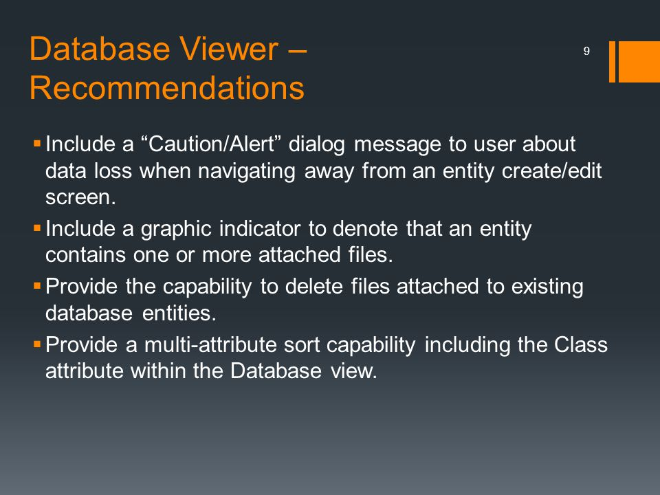 Database Viewer – Recommendations