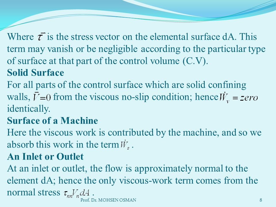 Where is the stress vector on the elemental surface dA