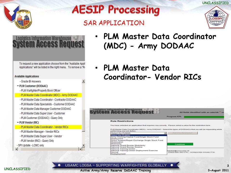 PLM Master Data Coordinator (MDC) - Army DODAAC
