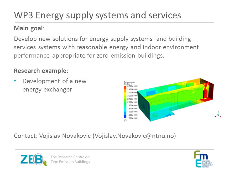 WP3 Energy supply systems and services