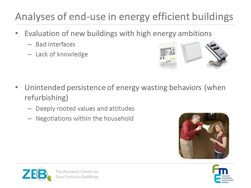 Analyses of end-use in energy efficient buildings