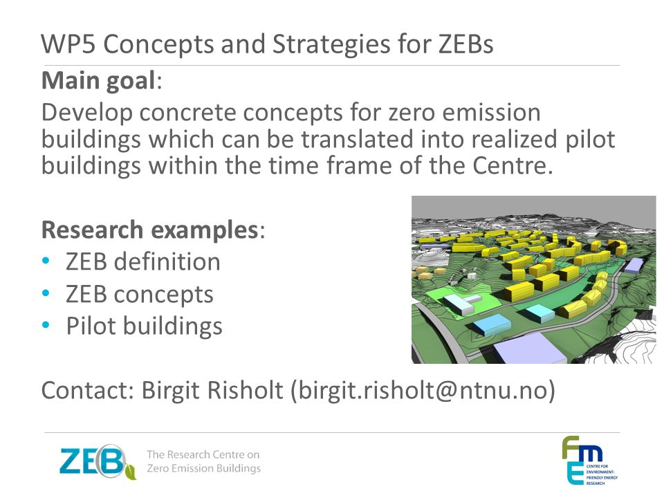 WP5 Concepts and Strategies for ZEBs