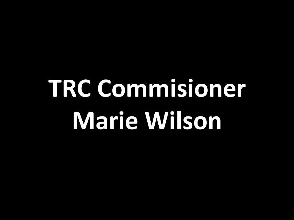 TRC Commisioner Marie Wilson