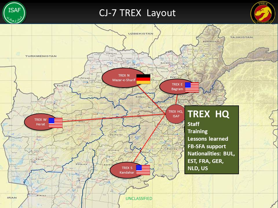 CJ-7 TREX Layout TREX HQ Staff Training Lessons learned FB-SFA support