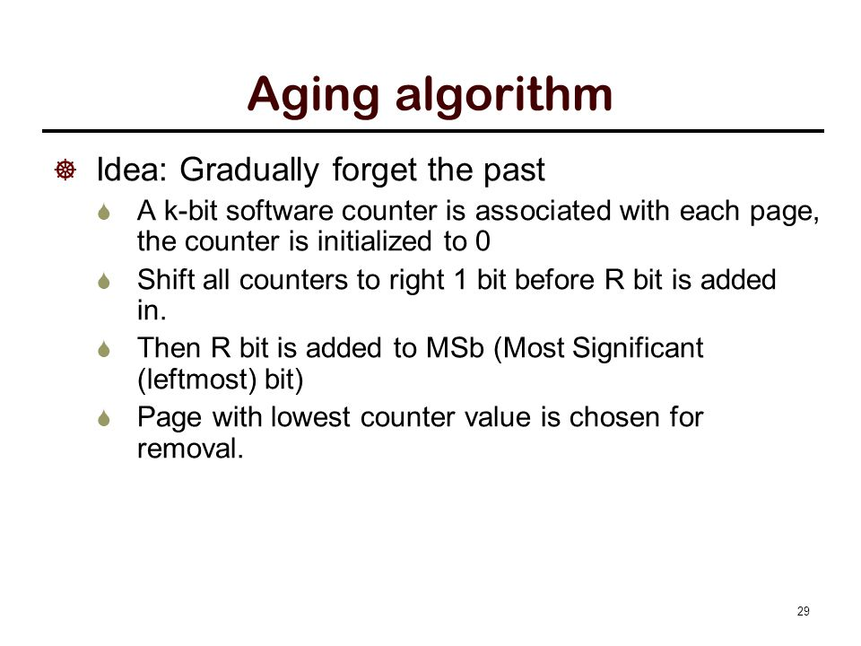 Aging algorithm example