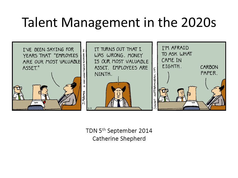 Talent Management in the 2020s