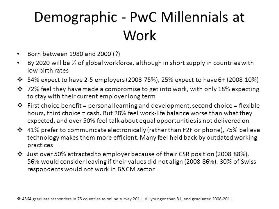 Demographic - PwC Millennials at Work