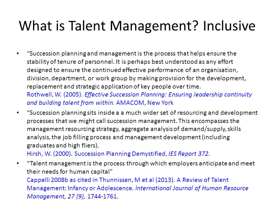 What is Talent Management Inclusive